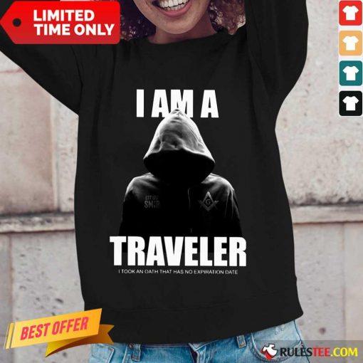 Premium I Am A Traveler Long-Sleeved