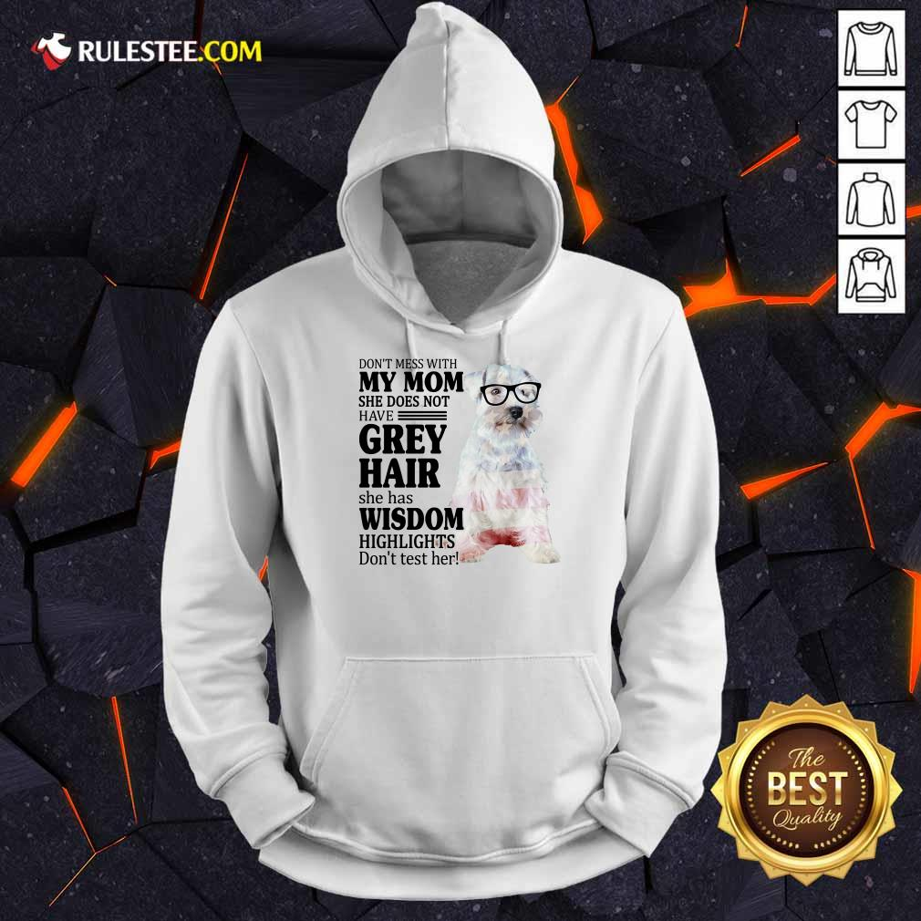 Premium Schnauzer She Does Not Have Grey Hair American Flag Hoodie