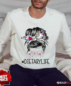 Pretty Dietary Girl Bun Hair Glasses Sweater