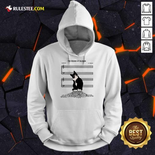 Top The Sound Of Silence Music And Cats Lover Hoodie