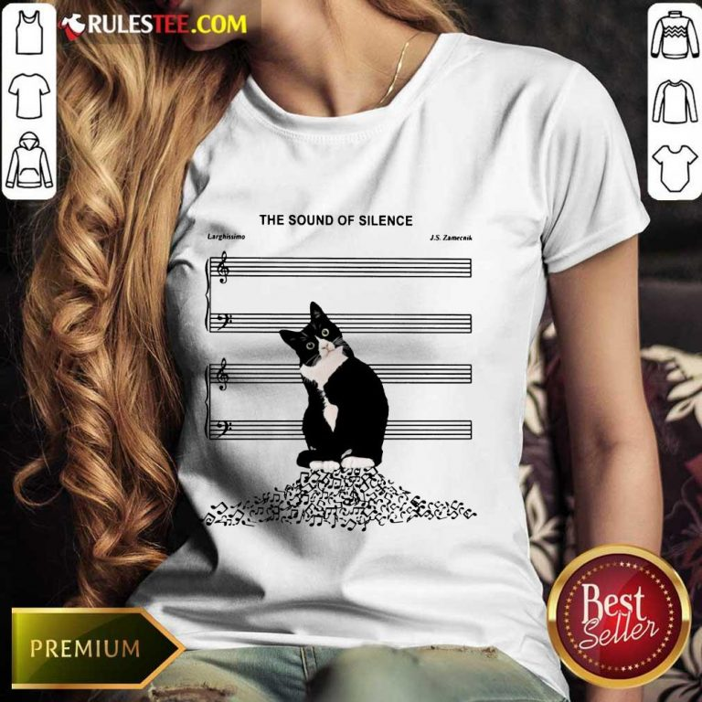 Top The Sound Of Silence Music And Cats Lover Ladies Tee