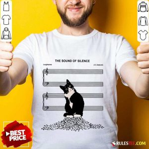 Top The Sound Of Silence Music And Cats Lover Shirt