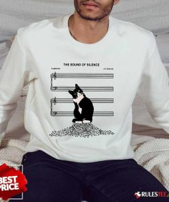 Top The Sound Of Silence Music And Cats Lover Sweater