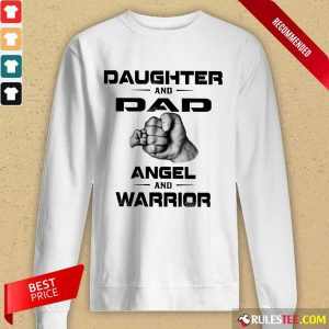 Daughter And Dad Angel And Warrior Long-Sleeved