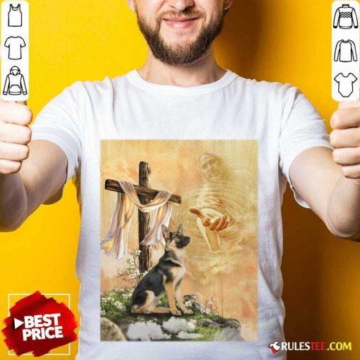 German Shepherd God Hand Shirt