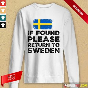 If Found Please Return To Sweden Long-Sleeved