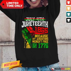 Juneteenth 1865 Were Not Free In 1776 Long-Sleeved
