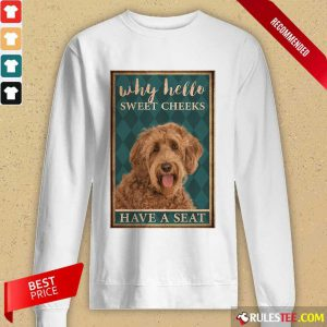 Labradoodle Why Hello Poster Long-Sleeved