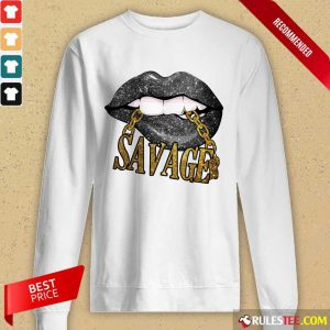 Lip Savage Black Woman Long-Sleeved