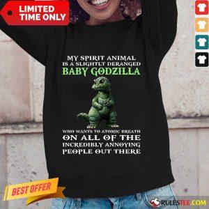 My Spirit Animal Baby Godzilla Long-Sleeved
