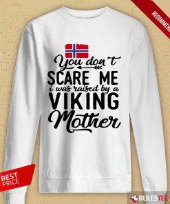 Norwegian Flag Scare Me Viking Mother Long-Sleeved