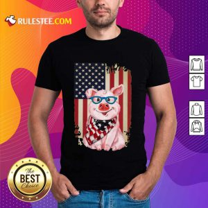 Pig American Flag Shirt