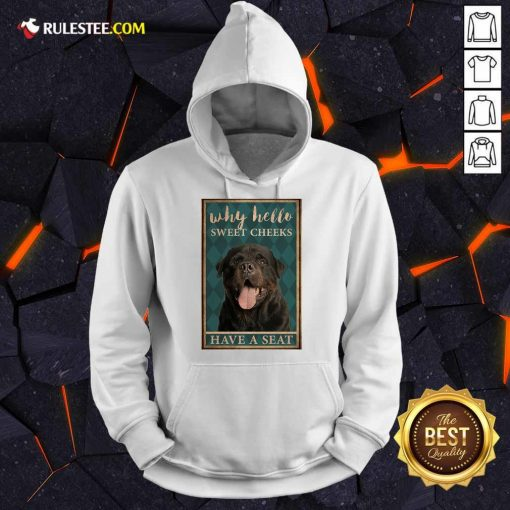 Rottweiler Why Hello Poster Hoodie