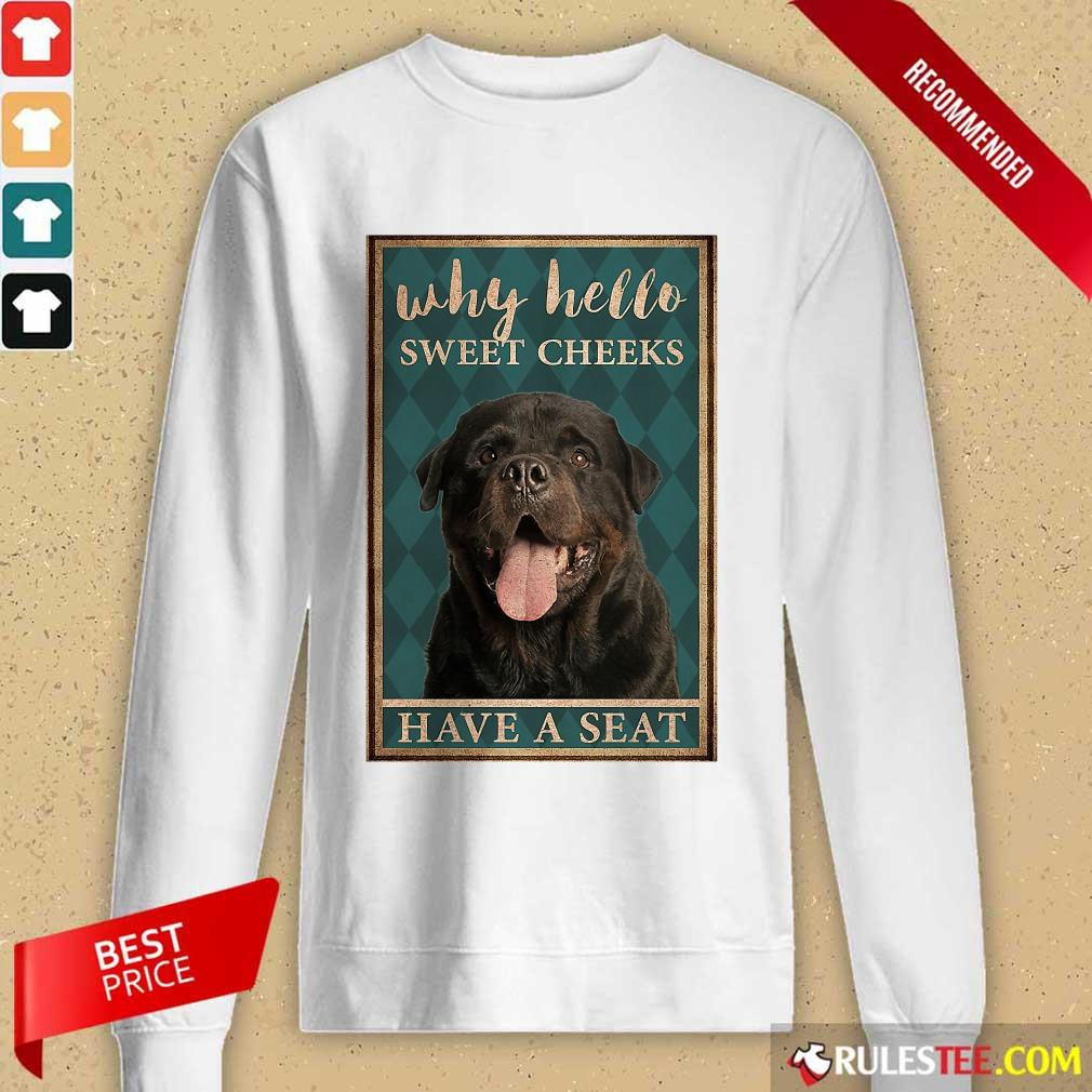 Rottweiler Why Hello Poster Long-Sleeved