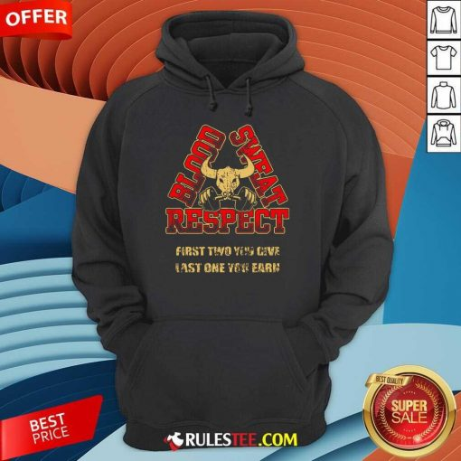 Weightlifting Blood Sweat Respect Hoodie