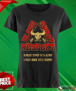 Weightlifting Blood Sweat Respect Ladies Tee