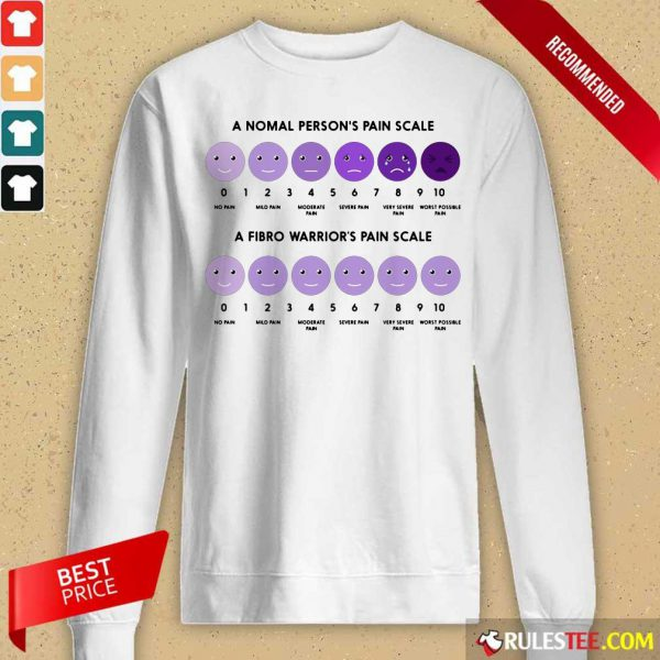A Normal Person's Pain Scale A Fibro Warrior's Pain Scale Long-Sleeved