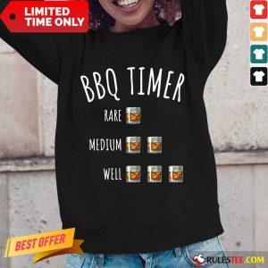 BBQ Timer Rare Medium Well Long-Sleeved