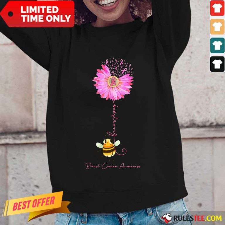 Bee Strong Breast Cancer Awareness Long-Sleeved