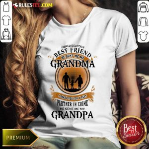 Best Friend Grandma And Grandpa Ladies Tee