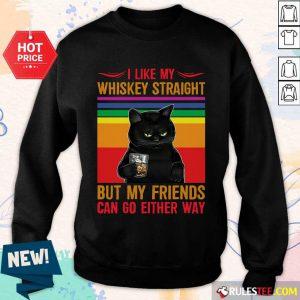 Black Cat I Like My Whiskey Straight Sweater