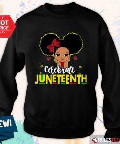 Black Girl Kids Juneteenth Sweater