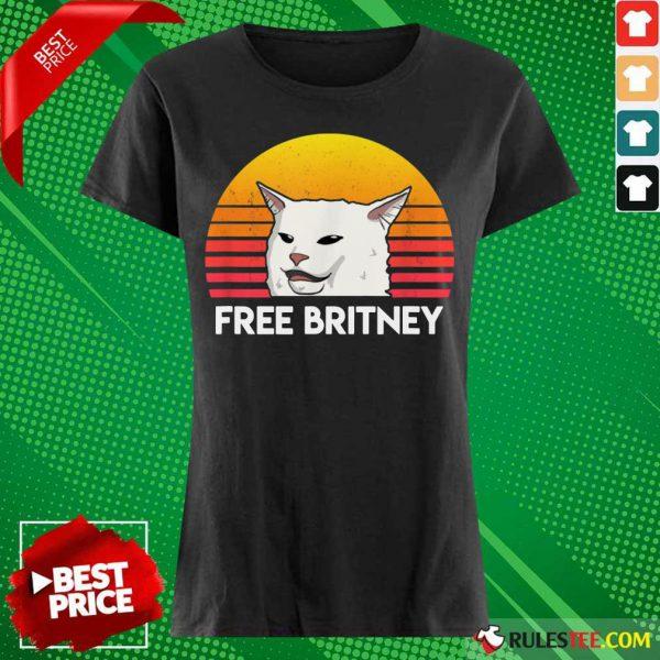 Cat Free Britney Movement Vintage Ladies Tee