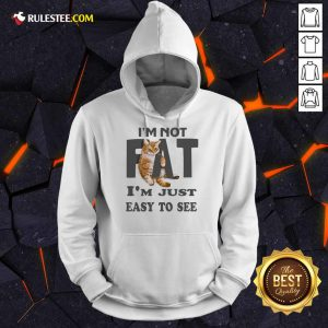 Cat I'm Not Fat I'm Just Easy To See Hoodie