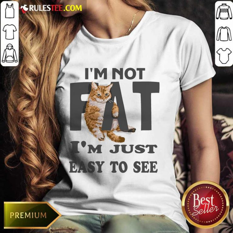 Cat I'm Not Fat I'm Just Easy To See Ladies Tee