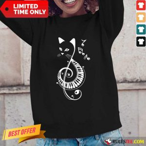 Cat Music Note Long-Sleeved