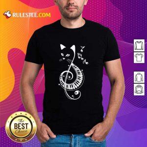 Cat Music Note Shirt