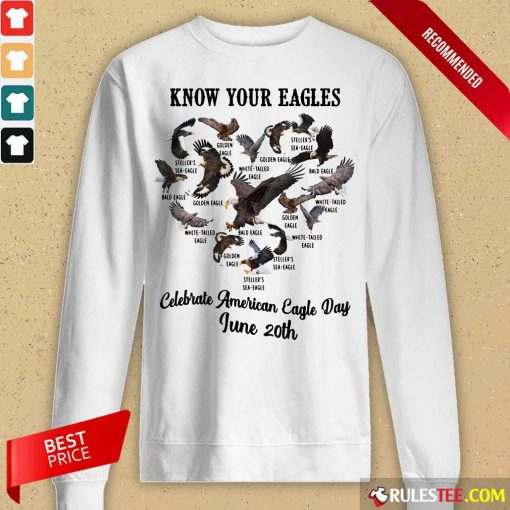 Celebrate American Eagle Day June 20th Long-Sleeved