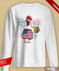 Chicken Drink Beer Independence Day Long-Sleeved