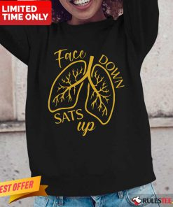Face Down Sats Up Lungs Long-Sleeved
