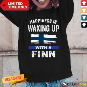 Happiness Is Waking Up With A Finn Long-Sleeved