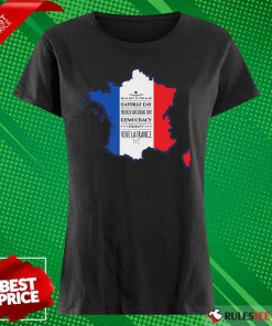 Happy Bastille Day Vive La France Ladies Tee