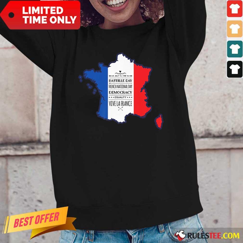 Happy Bastille Day Vive La France Long-Sleeved