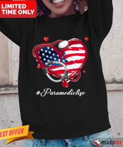 Heart American Flag Paramedic Long-Sleeved