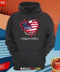 Heart American Flag Registered Nurse Hoodie