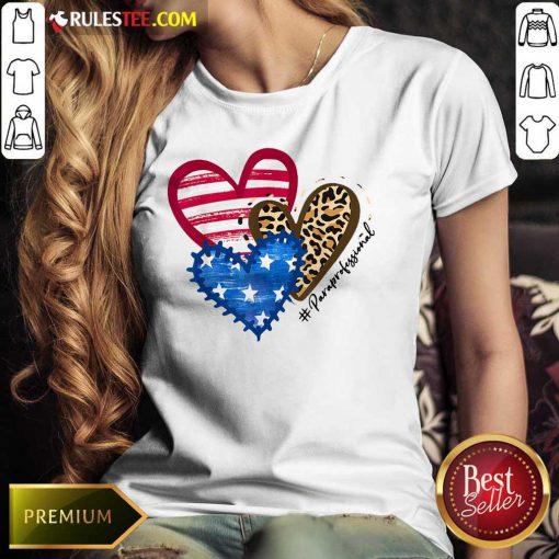 Heart USA Leopard Paraprofessional Ladies Tee