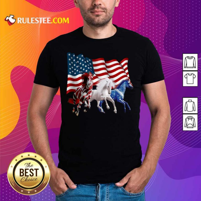 Horse American Flag Independence Day Shirt