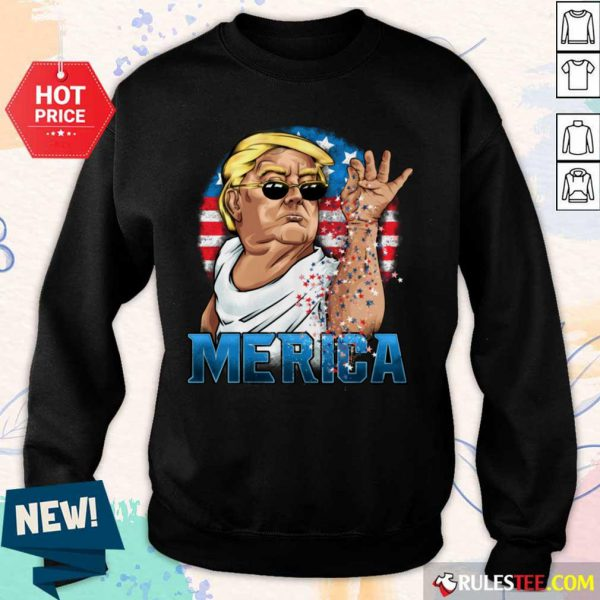 Hot Trump America Flag 4th Of July Sweater