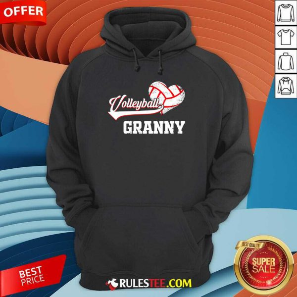 Hot Volleyball Granny Heart Hoodie