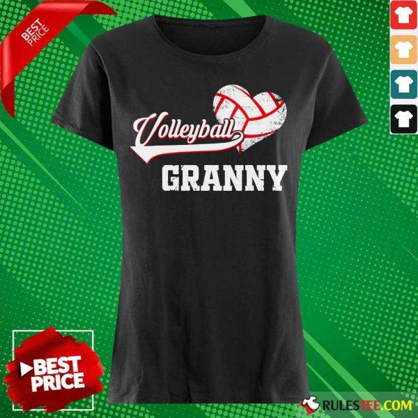 Hot Volleyball Granny Heart Ladies Tee