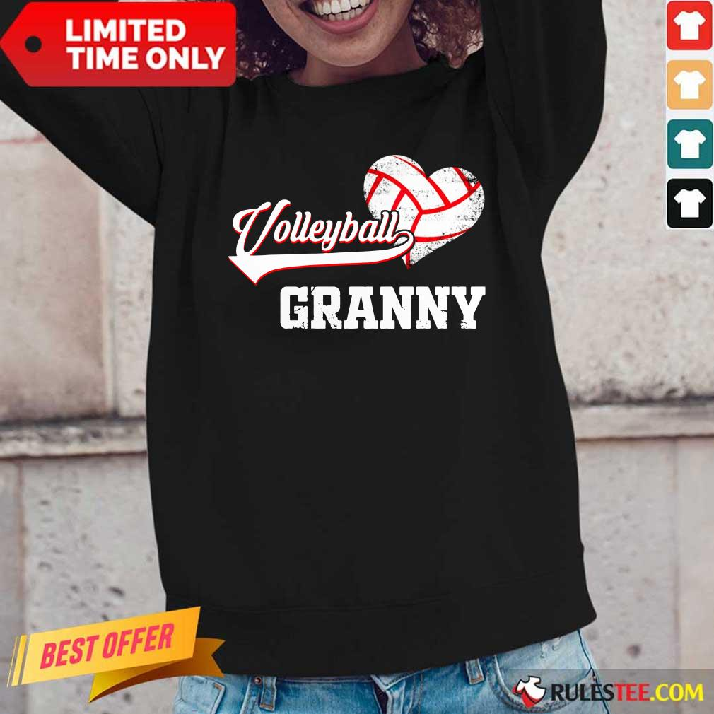 Hot Volleyball Granny Heart Long-Sleeved