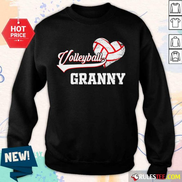 Hot Volleyball Granny Heart Sweater