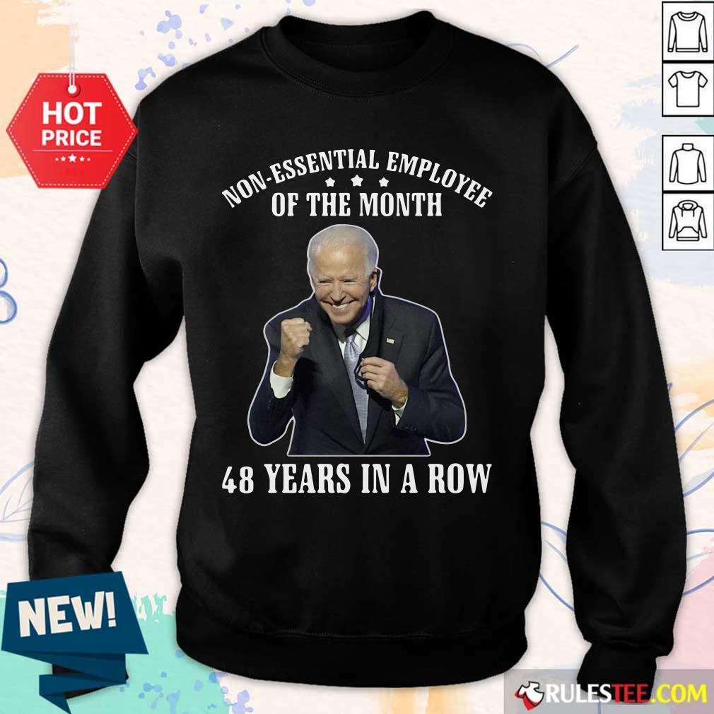 Joe Biden Non-Essential Employee Of The Month 48 Years In A Row Sweater