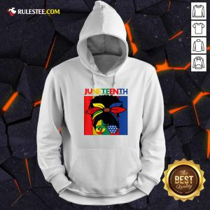 Juneteenth Independence Day 4th Of July Black Women Messy Bun Hoodie