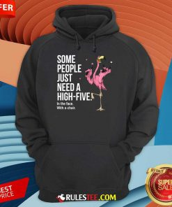 Just Need A High Five Flamingo Hoodie