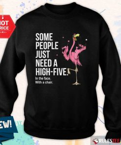 Just Need A High Five Flamingo Sweater